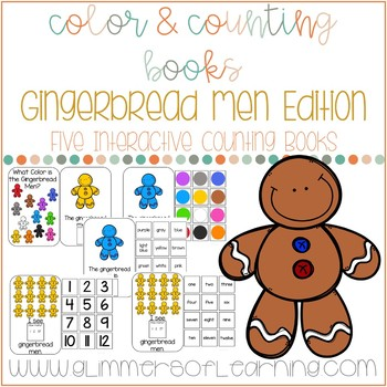 Gingerbread Men Interactive Color and Counting Books