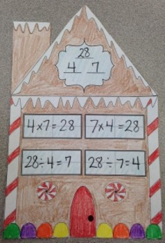 Gingerbread Multiplication/Division Fact Family Houses