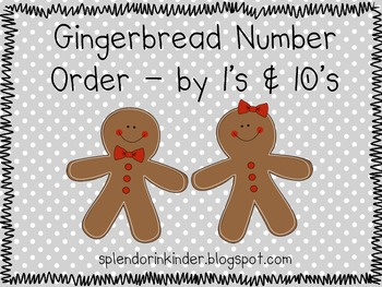 Gingerbread Number Order Activity