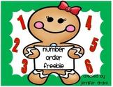 Gingerbread Number Order FREEBIE!  CC Aligned & Fun for PreK-1