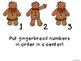 Gingerbread Number Sense Center