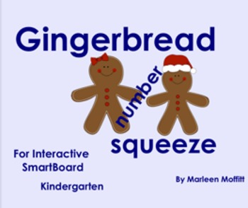 Gingerbread Number Squeeze for Interactive SmartBoard (Not