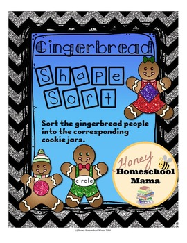 Gingerbread People Shape Sorting Activity - Sort the Shape