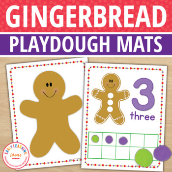 Gingerbread Man Play Dough Mats:  Gingerbread Math and Fin