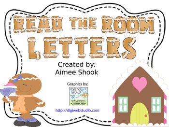 Gingerbread Read the Room Letters