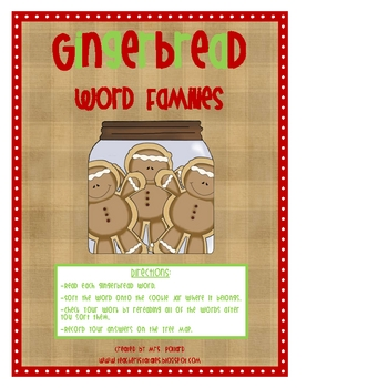 Gingerbread Short Vowel Word Families