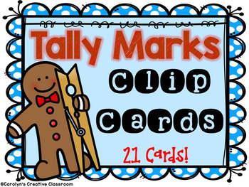 Gingerbread Tally Marks - Clip Cards