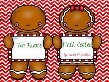 Gingerbread Ten Frame Math Center