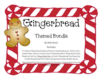 Gingerbread Themed Activity Bundle