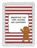 Gingerbread Themed Math Activities and Worksheets