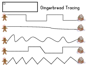 Gingerbread Tracing Precious Preschoolers