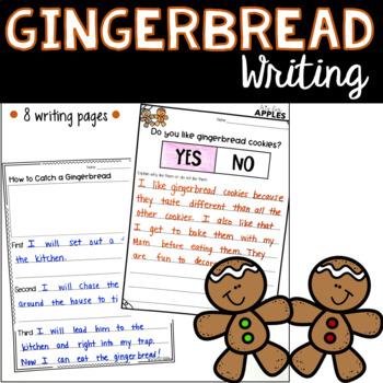 Gingerbread Writing FREEBIES!