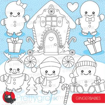 Gingerbread baby stamps commercial use, vector graphics, i