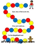 Gingerbread board game with primary colors