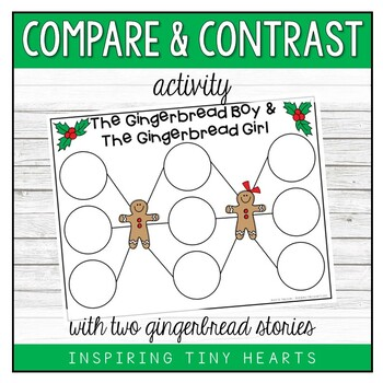 Gingerbread boy & Gingerbread girl - Compare and Contrast