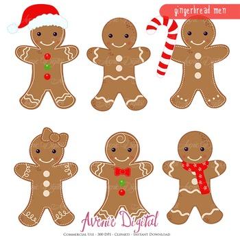 Gingerbread man Clipart Scrapbook printables clip art cook
