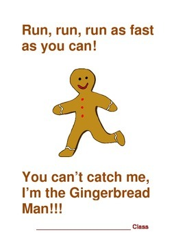 Gingerbread man cover page