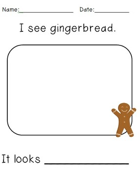 Gingerbread/Gingerbread Boy/5 Senses Writing Packet