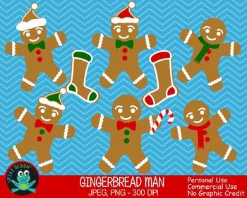Gingerbread Man {Upzaz Digital Clipart}