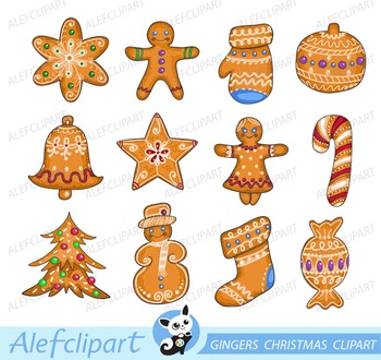 Gingers Christmas Clipart