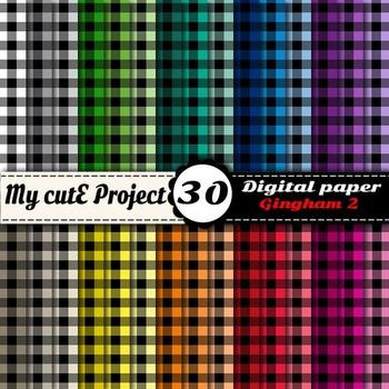 Gingham 2 - DIGITAL PAPER - Instant Download - Scrapbookin