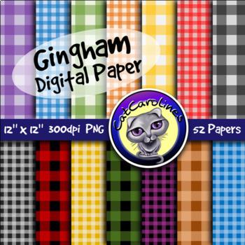 Gingham Digital Paper Backgrounds