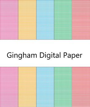 Digital Paper-Gingham