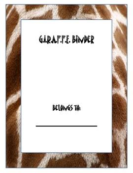 Giraffe Binder Cover
