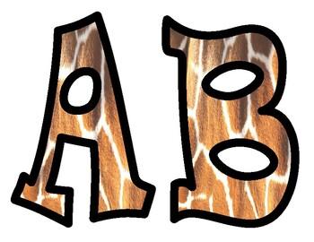 Giraffe Bulletin Board Alphabet Letters