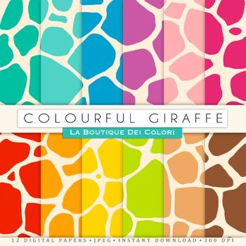 Giraffe Digital Paper, scrapbook backgrounds