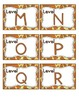 Giraffe Print Leveled Reader Labels