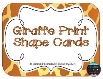Giraffe Print Shape Cards