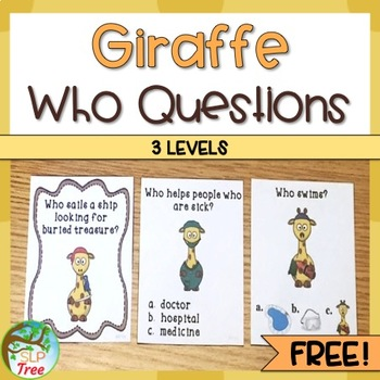 Giraffe Who Questions: 3 Levels