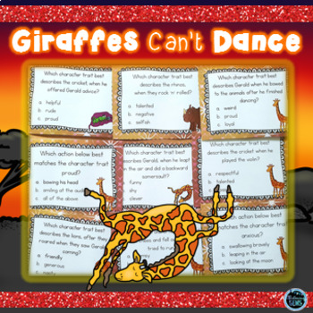 Giraffes Can't Dance Character Trait Task Cards