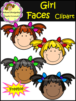 Girl Faces  Clipart  FREEBIE !