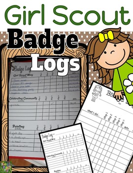 Girl Scout Badge Logs for Brownies