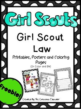 Girl Scout Law-Posters and Printables (Freebie)