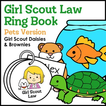 Girl Scout Law Ring Book - Pets Version - Girl Scout Daisi