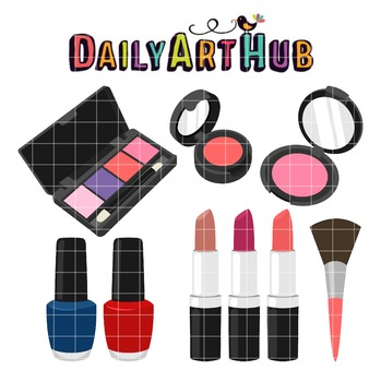 Girls Cosmetics Clip Art - Great for Art Class Projects!