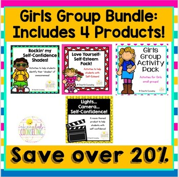 Girls Group, Self-Esteem, and Self-Confidence Bundle