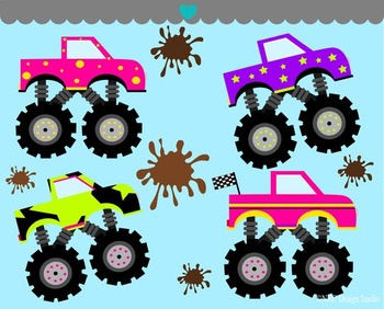 Girls Monster Truck Clip Art