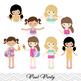 Girls Pool Party Clip Art Girls Swim Party Clip Art Summer