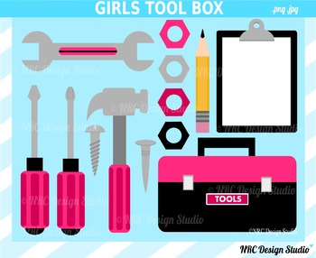 Girls Tool Box Clip Art