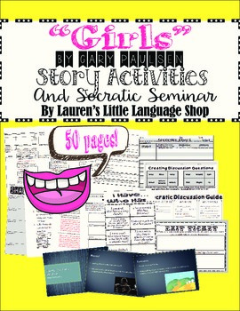Girls by Gary Paulsen Lesson Bundle