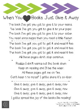 Reading Song- Give It Away Song Lyrics