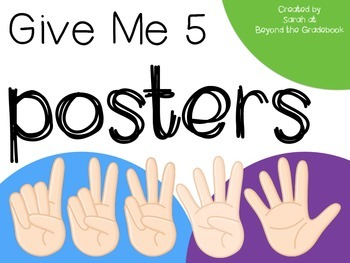 Give Me 5 Posters