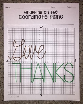 Give Thanks (Graphing on the Coordinate Plane)