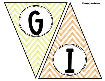 Give Thanks - Thanksgiving Chevron Banner / Pennant