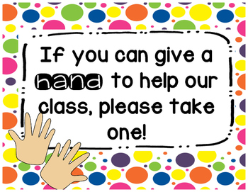 Give a Hand - Parent Wish List Sign