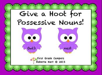 Give a Hoot for Possessive Nouns!